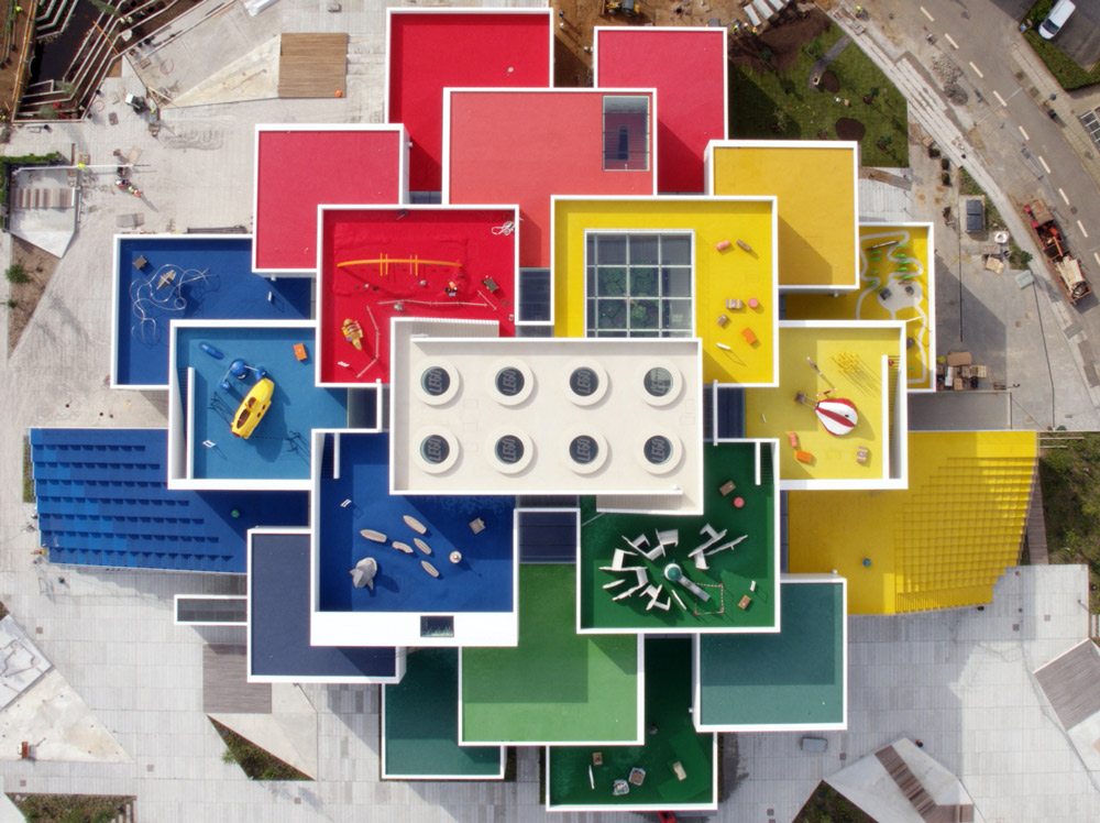 LEGO House from above web